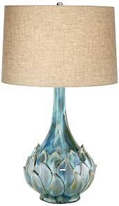 Teal Table Lamp Possini Euro Kenya Blue Green Ceramic Table Lamp Amazon Com