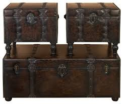trunk style side table furniture wooden trunk style coffee table chest of tables chest