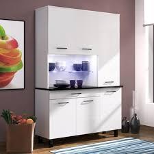 buffet de cuisine blanc eco buffet de cuisine contemporain l 120 cm blanc brillant achat