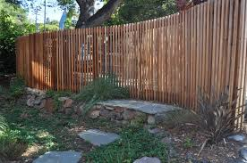 curved wood fence
