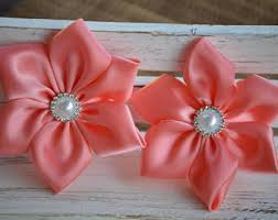 ribbon flowers satin ribbon flower etsy