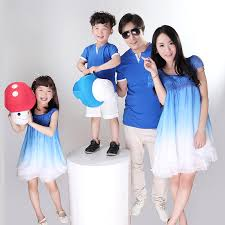 2014 new blue white gradual change family set for and