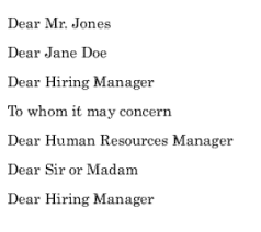 ideas of addressing cover letter to unknown gender also sheets