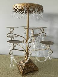 chandelier cupcake stand gold chandelier cupcake holder musethecollective