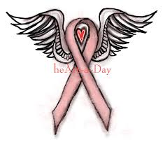 heart 161 pink ribbon angel heart drawing heart a day