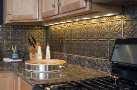Tin Backsplash New Trends For Nostalgic Style - Metal kitchen backsplash