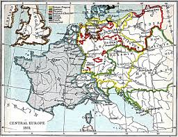 Map Central Europe by Central Europe Map 1801 A D