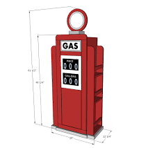 ana white how to build a vintage gas pump cabinet with side