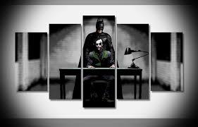 Batman Home Decor 2714 Joker And Batman The Dark Knight Rises Movie Poster Framed