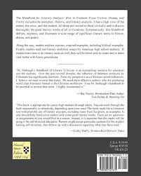 Examples Of Literary Criticism Essays Amazon Com Handbook For Literary Analysis Book I How To Evaluate