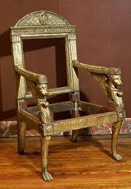 Italian Armchair Empire Armchair With Original Gilding