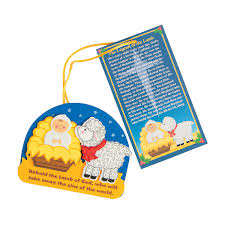 the legend of the lamb u201d christmas ornament craft kit