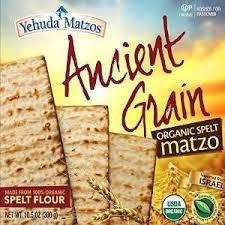matzos for passover yehuda matzos ancient grain organic spelt kosher for passover 10 5 o