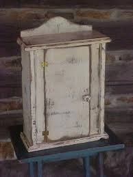 Distressed Wall Cabinet Small Wall Curio Cabinet Foter