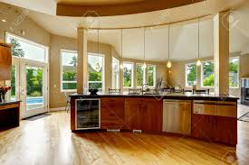 luxury kitchen island spacious luxury kitchen room with kitchen island and steel
