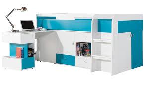 lit enfant avec bureau coulissant et rangements jolly mobilier