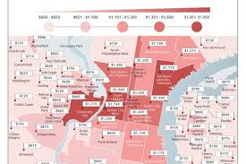 Real Estate Map Mapping The Median Rent Of A One Bedroom In Philadelphia Curbed