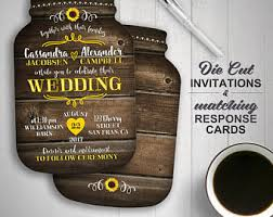 Sunflower Wedding Invitations Sunflower Wedding Etsy