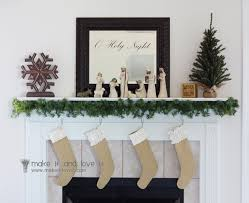 burlap christmas stockings make it and love it