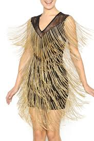 wow couture gold label all that fringe dress from montclair by