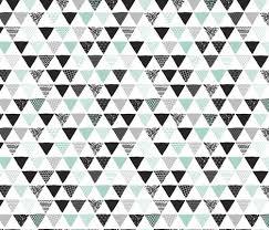 geometric tribal aztec triangle blue modern patterns fabric