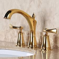 decorative bathroom faucets designer polished brass three holes