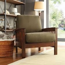 Amazoncom TRIBECCA HOME Hills Modern MissionStyle Oak - Family room chairs