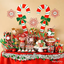christmas dessert buffet spread some merry with a candy buffet party city has candy