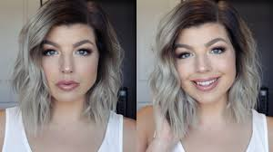 how i style my short hair messy beach waves hair tutorial youtube