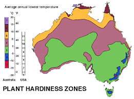 map of aus plant hardiness zones for australia