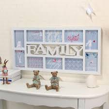 hanging home decor yazi white family plastic wall hanging collage picture photo frame