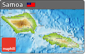 map samoa free physical map of samoa
