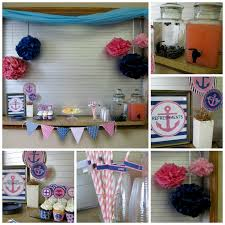 Nautical Theme Babyshower - pink and navy nautical baby shower with nbrynn designs dimple prints