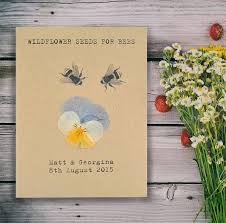 pressed flower recycled seed packet wedding favour wedding