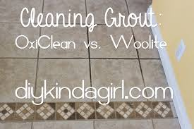 How To Clean Kitchen Tile Grout - diy kinda diy household tip cleaning grout oxiclean vs