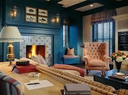 blue walls living room home design
