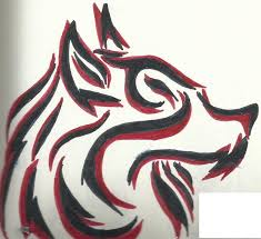 and black tribal wolf by tazimo on deviantart