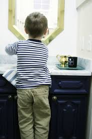 navy vanity how to make a bathroom vanity taller and deeper craftivity designs