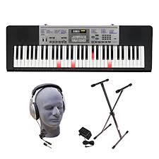 casio lk 175 61 lighted key personal keyboard amazon com casio lk 175 ppk 61 key premium lighted keyboard pack