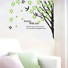 wall decor nursery decor nursery wall decal green leaves tree birds home sticker house decoration wallpaper removable living