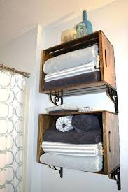 Towel Storage Ideas For Small Bathrooms Bath Towel Shelves I Needed More Storage For Towels After I