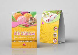 Avery Table Tents Ice Cream Table Tent Template By Owpictures Graphicriver