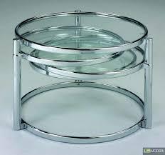 modern contemporary chrome swivel glass coffee cocktail table zcota15