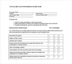 sample employee performance review template 8 free