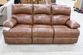 Genuine Leather Reclining Sofa Brown Genuine Leather Reclining Sofa Brand New Store Closing