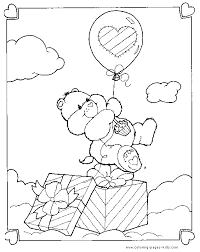care bears coloring birthday care bear