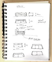 sketch of the new sofa in the updated stockholm collection