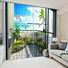 3d scenery curtains u0026 beach scene curtains beddinginn com