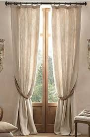 Curtains With Rings At Top Emery Linen Cotton Drape Pottery Barn 50x84