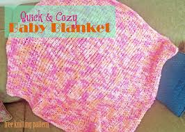 knitting pattern quick baby blanket quick cozy baby blanket free knitting pattern